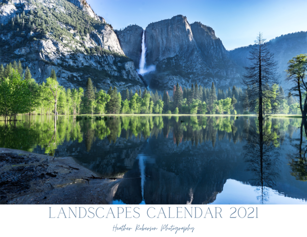 Landscape calendar - a year of nature photography for 2021