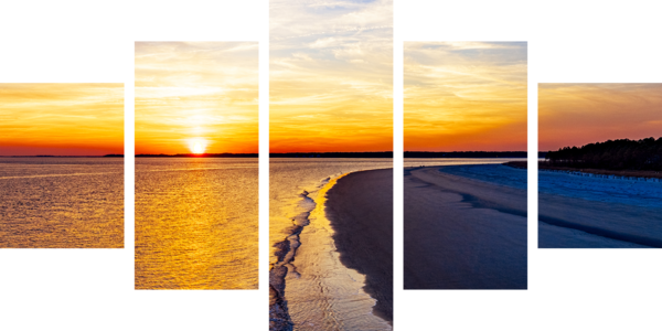 Beach Sunset Polyptych   Hilton Head Photographer   3b Photography