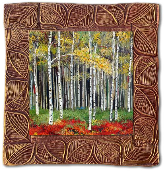 "Aspen Forest   Sq | 11""X11"" | Aspens Collection Art | KenarovART Inc"