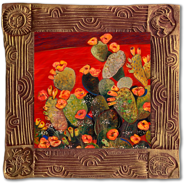 Morning Bloom   Sq/Blooming Desert Collection Art | KenarovART Inc