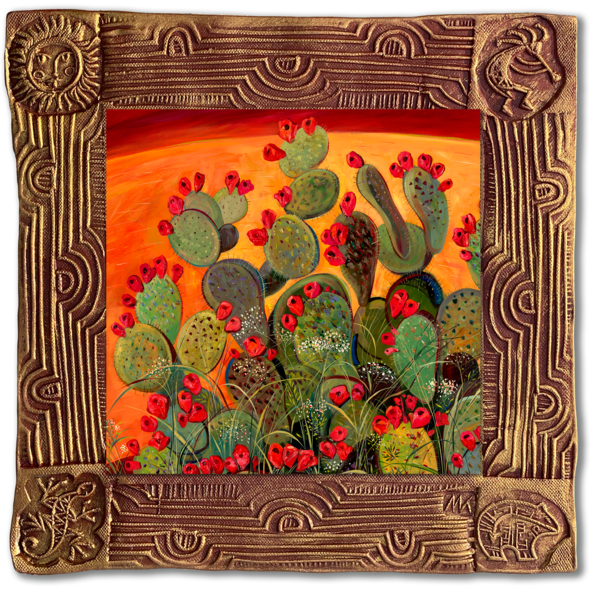 Hot Day   Sq/Blooming Desert Collection Art | KenarovART Inc