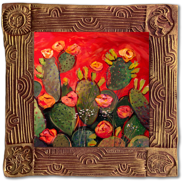 Orange Bloom   Sq/Blooming Desert Collection Art | KenarovART Inc