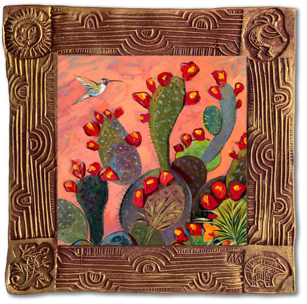 Hummingbird I   Sq/Blooming Desert Collection Art | KenarovART Inc