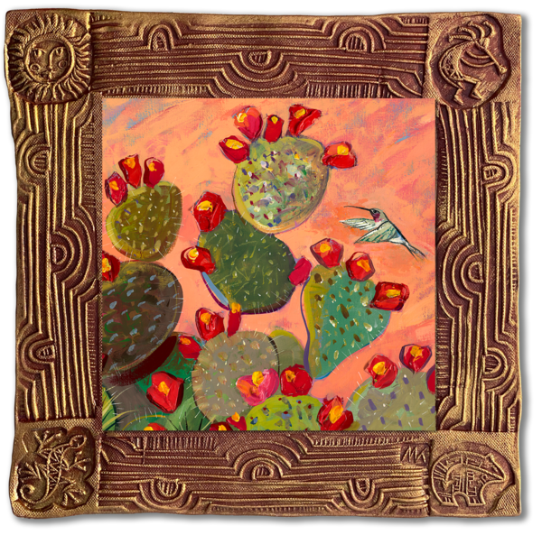 Hummingbird Ii   Sq/Blooming Desert Collection Art | KenarovART Inc