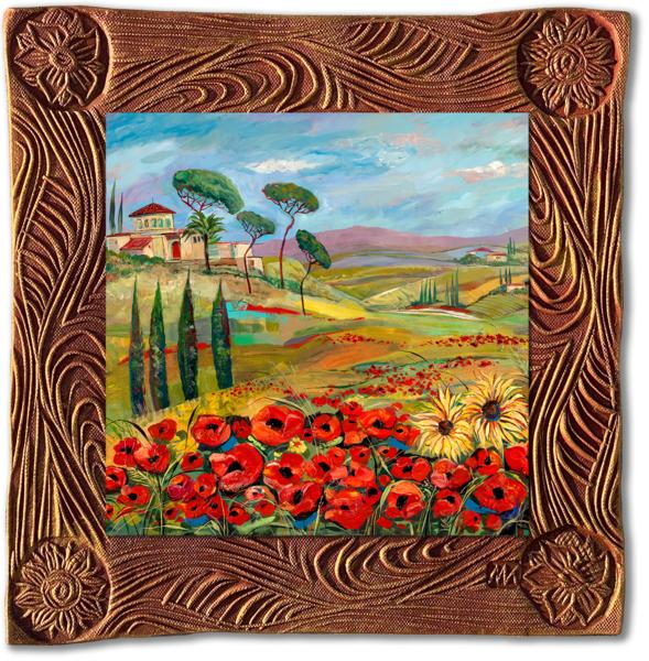 Tuscan Countryside   Sq/Italy Collection Art | KenarovART Inc