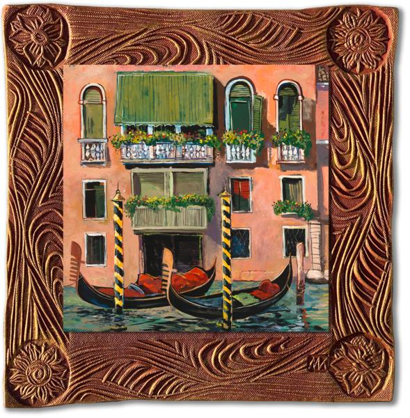 Venice Balcony   Sq/Italy Collection Art | KenarovART Inc