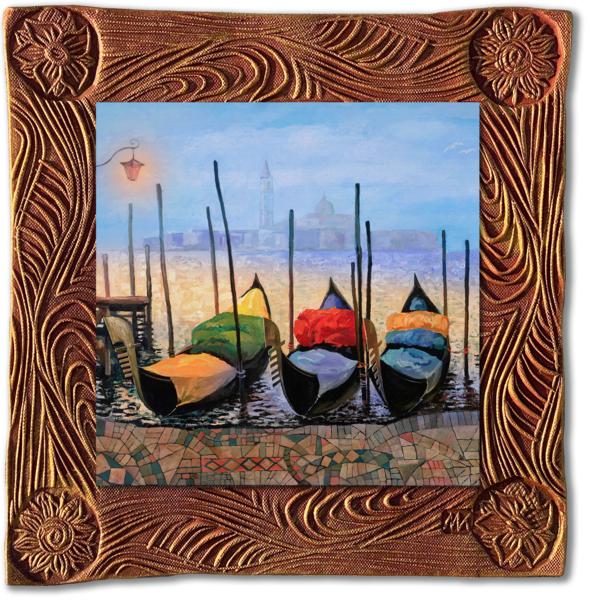Venice Gondolas   Sq/Italy Collection Art | KenarovART Inc