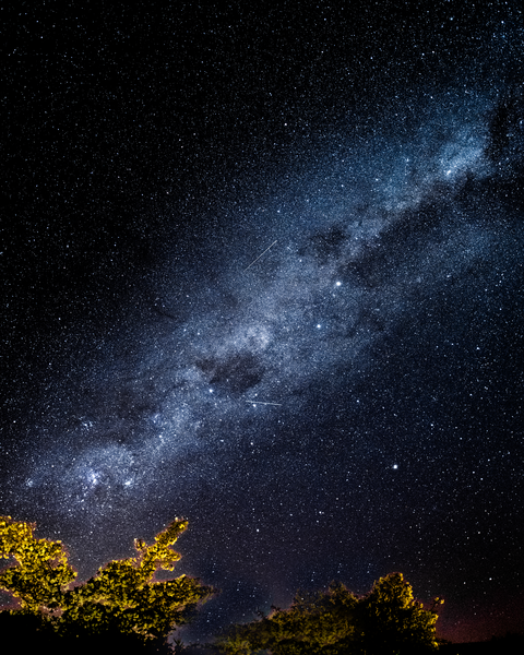 Te Anau Milky Way 2 Meteors Photography Art | Eric Hatch
