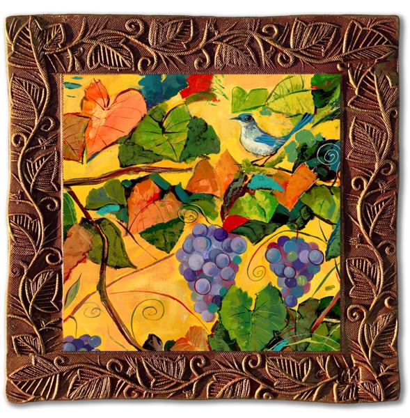 Grapes & Birds Iii   Sq/Countryside Collection Art | KenarovART Inc