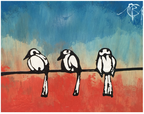 Three Little Birds Art | buchanart