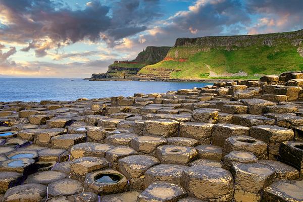 Art Print The Giant Causeway Northern Ireland Basalt Cliffs