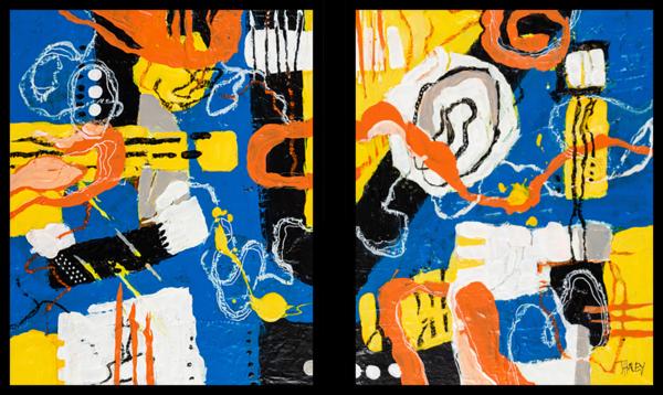 Riptides Original (Diptych) Art | Terrie Haley Artist