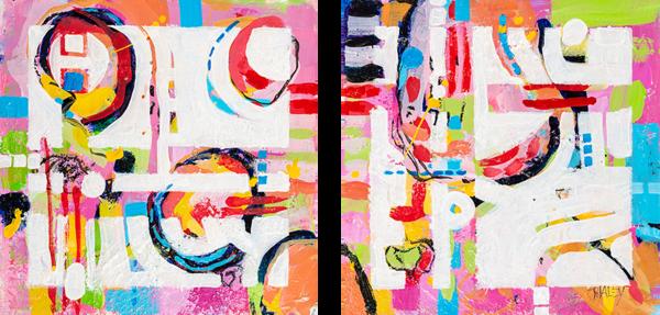 3rd Street Pizza (2 Panels) Art | Terrie Haley Artist