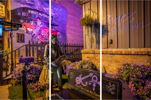 Prince Mural And Statue In Henderson Mn   Acrylic Panel Art Photography Art | William Drew Photography