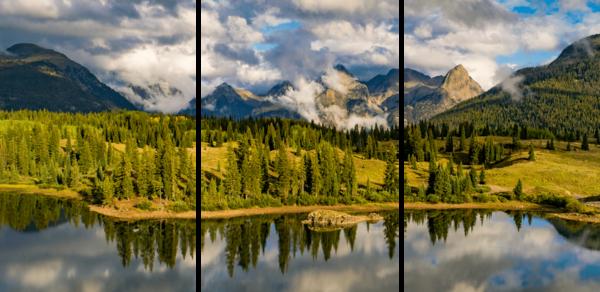 Molas Lake 3 Panel Photography Art   Alex Nueschaefer Photography