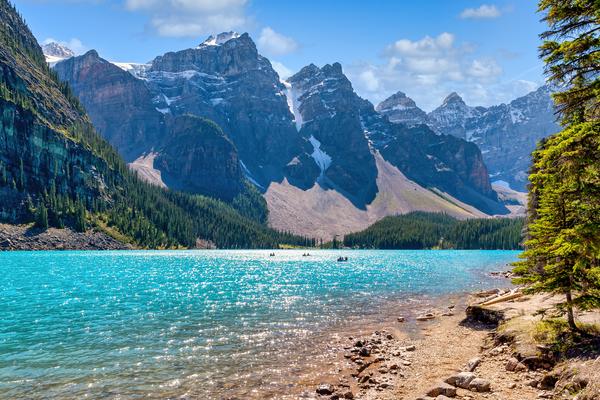 Art Print Moraine Lake Banff National Park Alberta Canada Glacial Lake