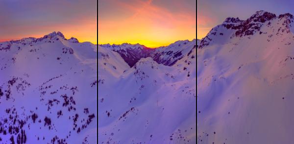 Ophir Pass Sunset 3 Panel Photography Art   Alex Nueschaefer Photography