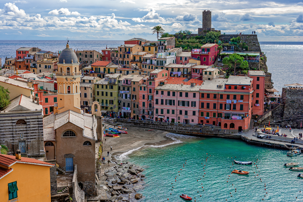 Art Print Vernazza Cinque Terre Italy Late Summer Day