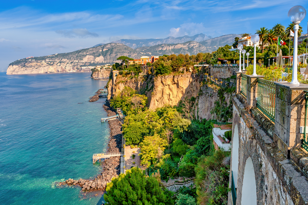 Print Art Sorrento Amalfi Coast Italy Bay of Naples Overlook