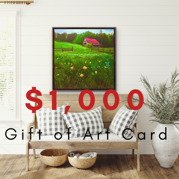 $1000 Gift of Art Gift Card for the Gallery of Hilary J. England, American Artist