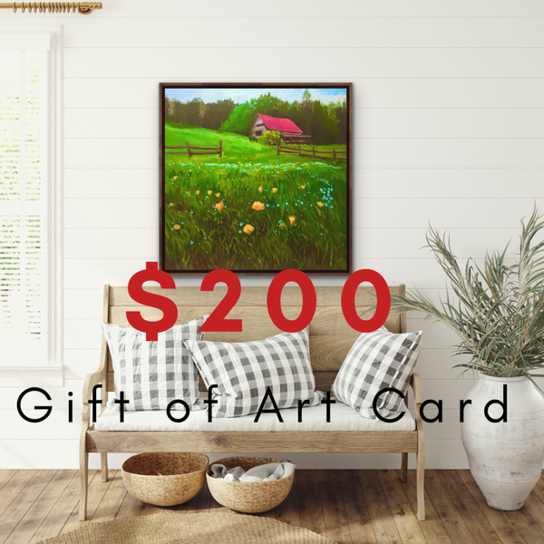 $200 Gift of Art Gift Card for the Gallery of Hilary J. England, American Artist