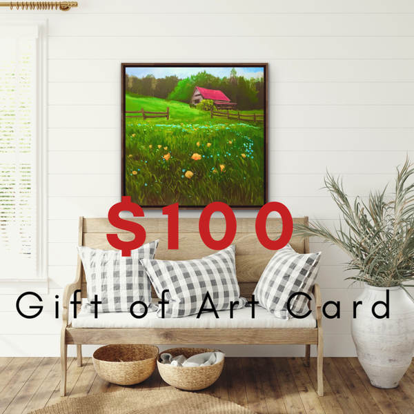 $100 Gift of Art Gift Card for the Gallery of Hilary J. England, American Artist