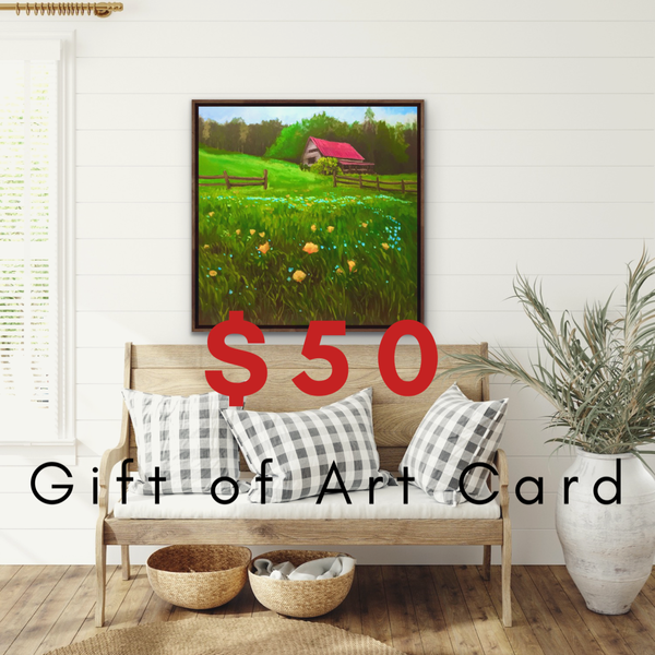 $50 Gift of Art Gift Card for the Gallery of Hilary J. England, American Artist