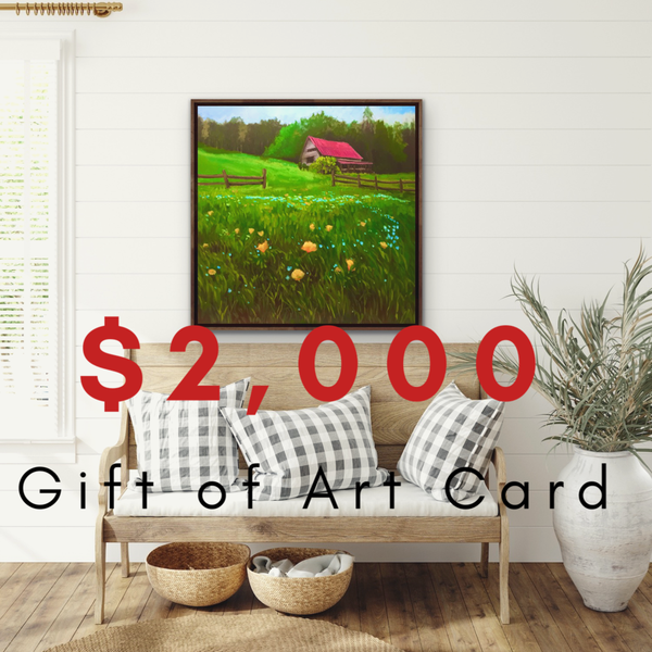 $2000 Gift of Art Gift Card for the Gallery of Hilary J. England, American Artist