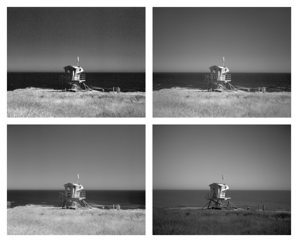 California Landscape Photography-Lifeguard Tower Overlooks Ocean Bluffs-Polyptych