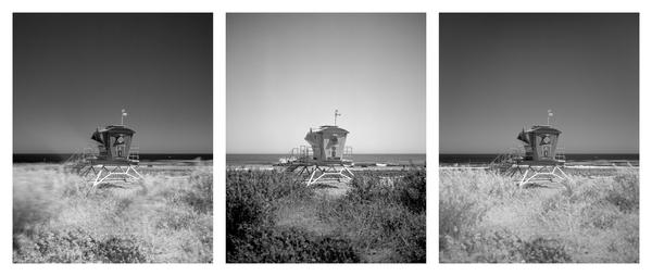 California Landscape Photography-Lifeguard Tower at Leo Carillo