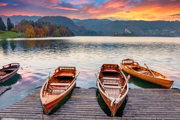 Art Print Lake Bled Slovenia Lake Reflections