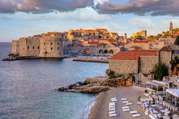 Print Art Dubrovnik Croatia Walled City