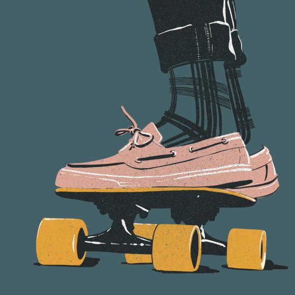 Retro Skateboarder Art | Davida Fernandez Studio