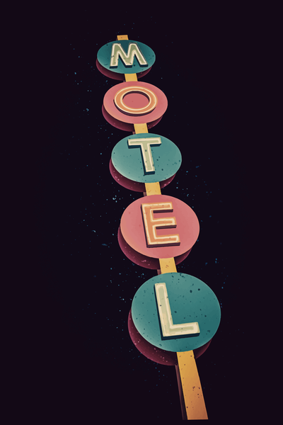 Retro Motel Sign 2 Art | Davida Fernandez Studio