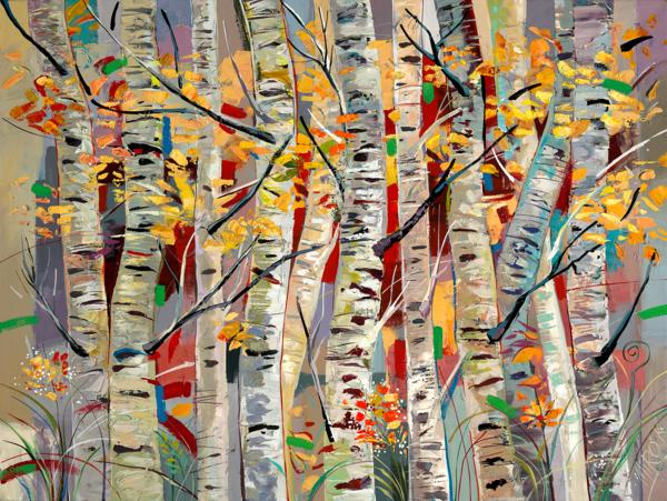 Aspens Melody/Art On Canvas Art | KenarovART Inc