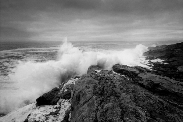 Seascape Photography - Crashing Wave Maine Coast