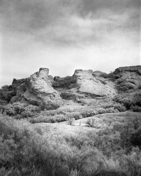California Landscape Film Photography - Natural Rock Sculpture