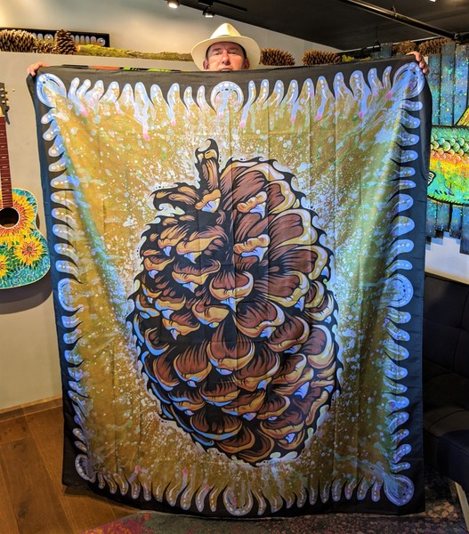 Jeffery Pine Cone Wall Tapestry