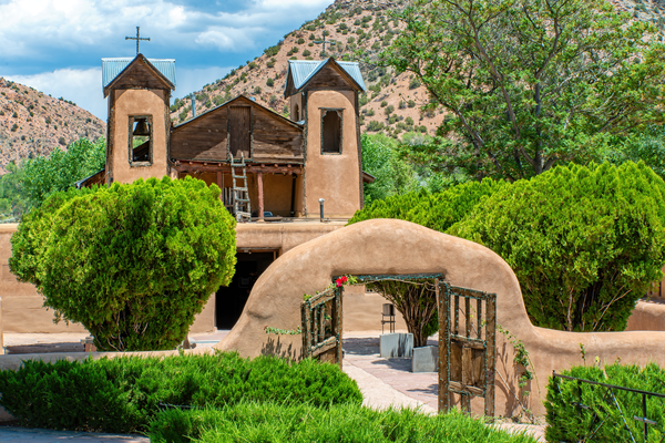 Print Art El Santuario de Chimayo New Mexico The Sanctuary