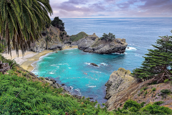 Print Art Julia Pfeiffer Burns State Park Big Sur California McWay Falls