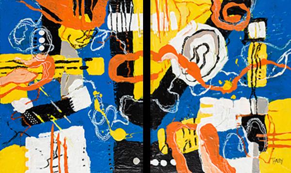 Riptides (2 Panels) Art | Terrie Haley Artist