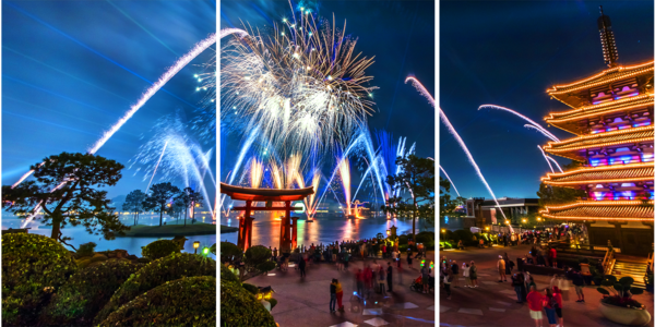 Epcot Fireworks Spectacular 4   Acrylic Panel Art Photography Art | William Drew Photography