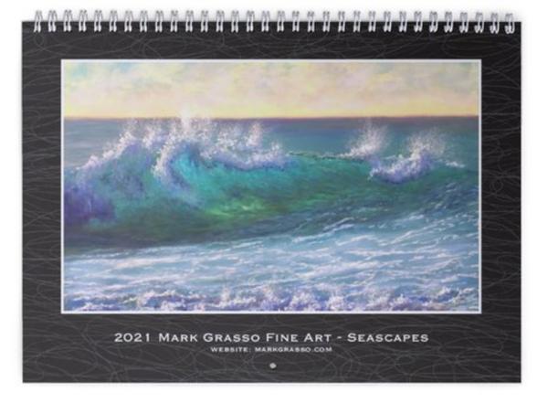 2021 Seascapes Art Calendar | Mark Grasso Fine Art