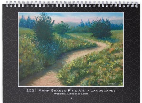 2021 Landscapes Art Calendar | Mark Grasso Fine Art