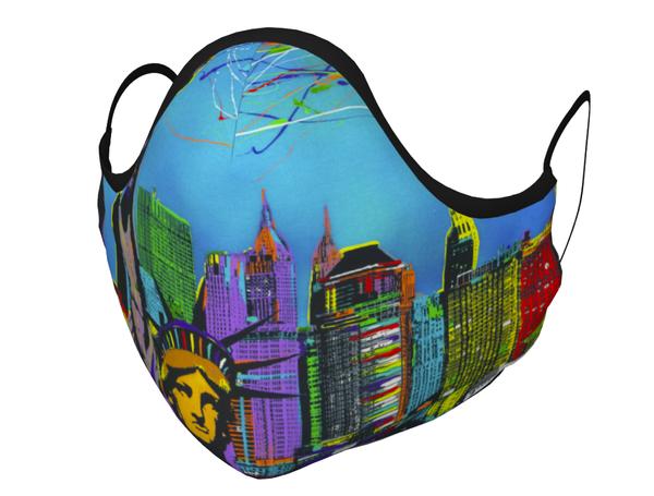 """Freedomland"" Face Mask Art | JD Shultz Art"