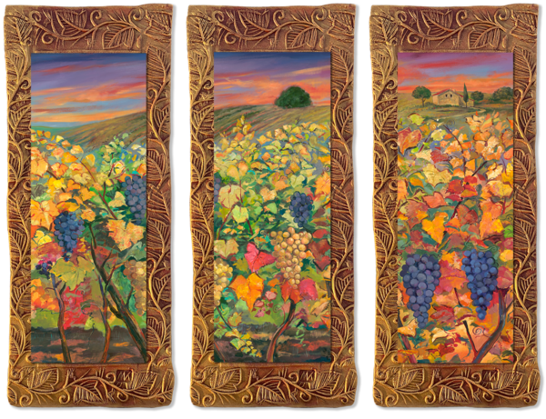 Vineyard   Triptych/Countryside Collection Art | KenarovART Inc