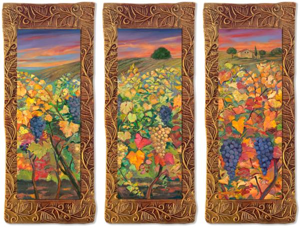 Vineyard   Triptych/Countryside Collection Art | KenarovART Inc