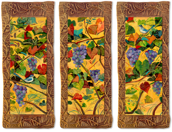 Grapes & Birds   T/Countryside Collection Art | KenarovART Inc