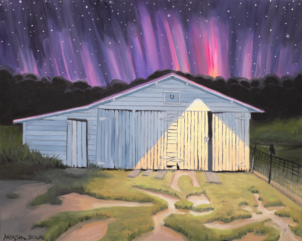 Barn at Night Art for Sale