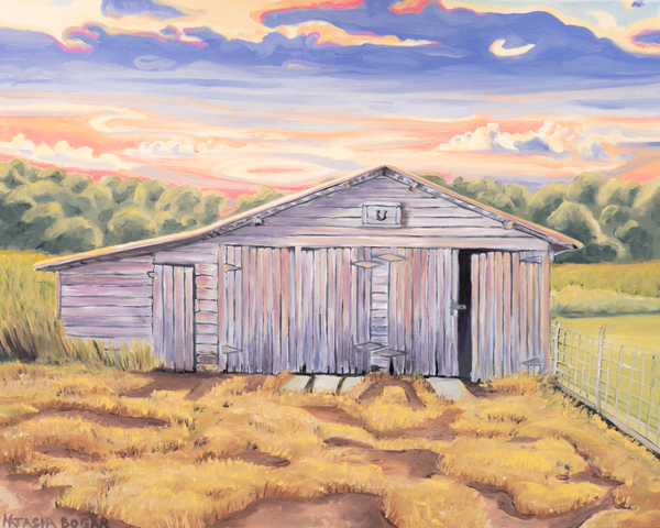 Barn at Sunset Art for Sale
